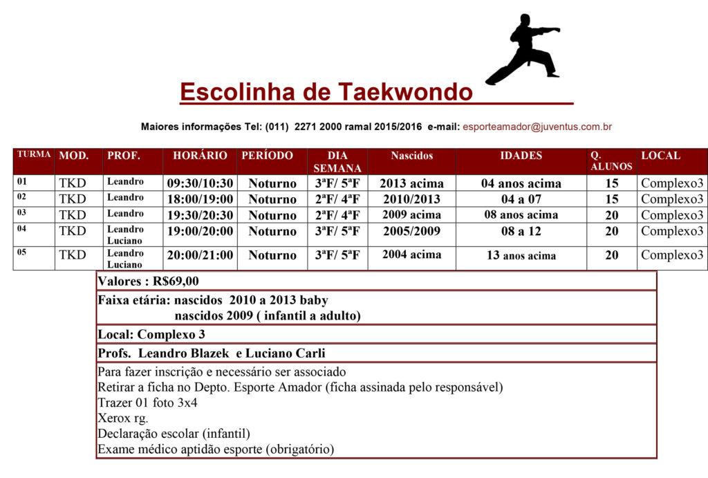 Escolinha de Taekwondo
