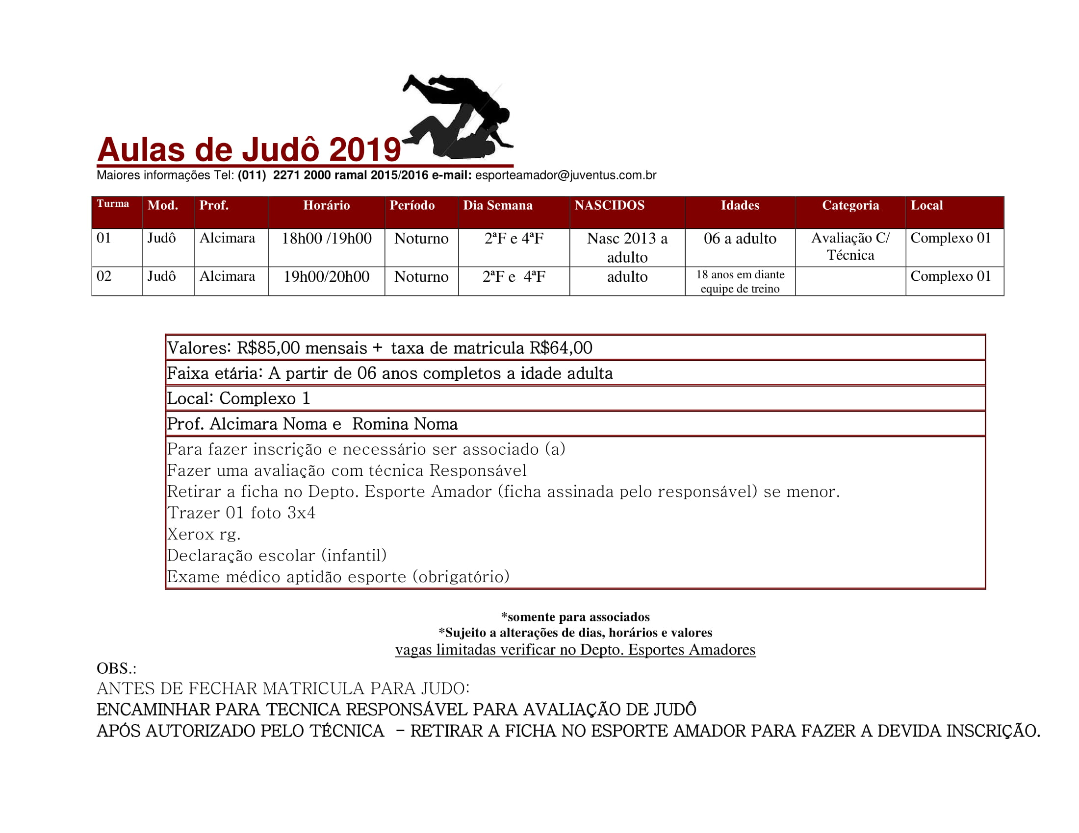 Esporte Amador – Judô 2019