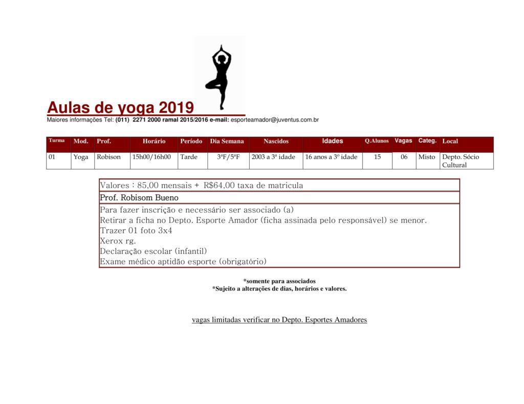 Esporte Amador - Yoga 2019