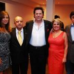 Isabel, esposa do presidente do Palmeiras, Antonio Ruiz, Luciano Bruno, Carmen Lúcia e Arnaldo Tirone