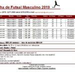 Futsal escolinha 2019 alteração
