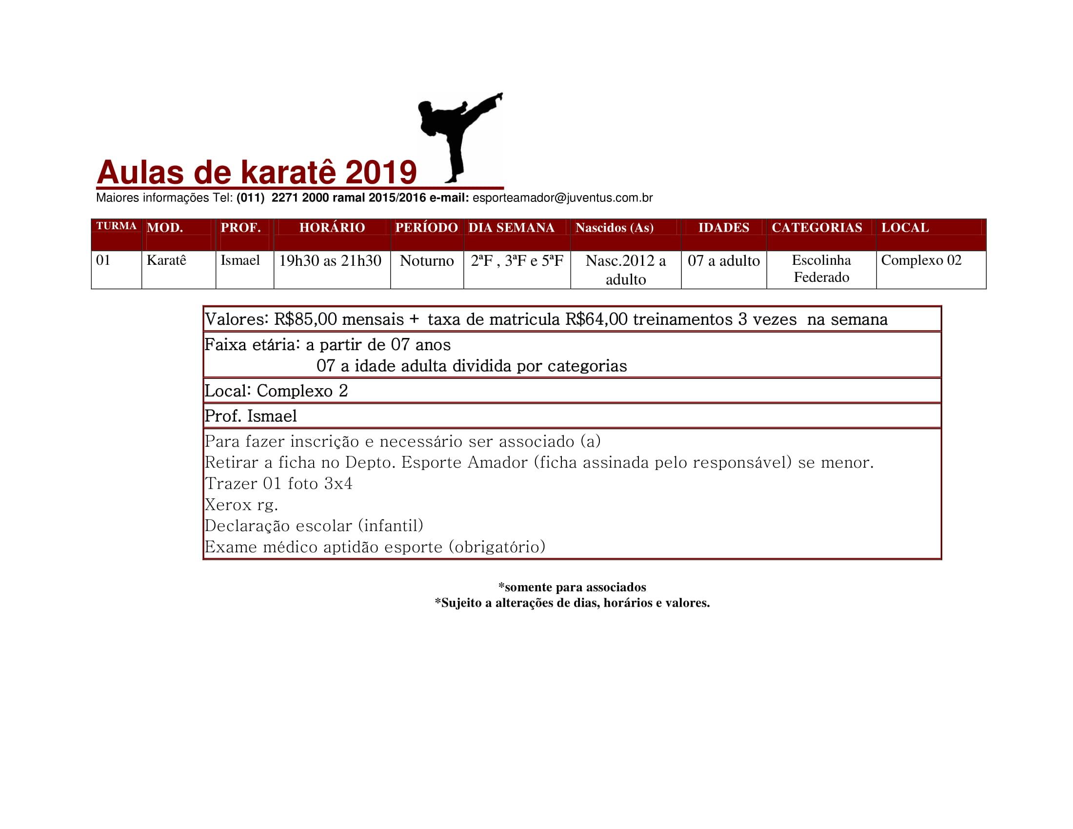 Karatê Fevereiro 2019