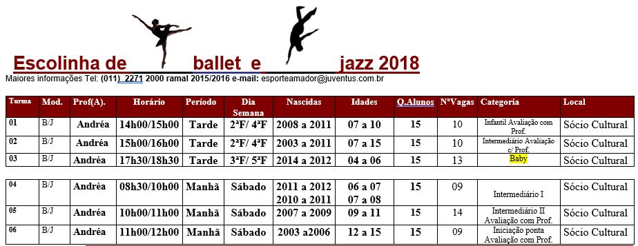 ballet e Jazz