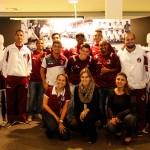 Equipe Grená visita à exposição Villa Mooca