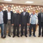 Domingos Sanches se encontra com o presidente Reinaldo Carneiro Bastos da F.P.F.