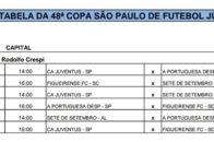 tabela de jogos copa são paulo 2017