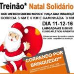 """Equipe de Corrida promove """"Treinão Natal Solidário"""""""