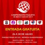 Times Paulistas disputam 1° Campeonato Paulista de Beach Soccer