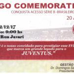 Juventus promove Jogo Comemorativo dos 20 anos ao Acesso à Série B