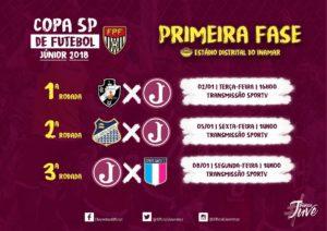 1ª Fase da Copa São Paulo de Futebol Júnior 2018 @ Estádio Distrital do Inamar, em Diadema.