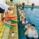 Confraternizações encerram atividades na piscina térmica