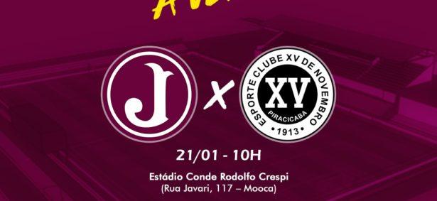 Juventus x XV de Piracicaba (Arte: Danilo Pepe/Divulgação)