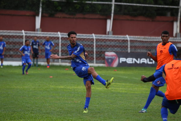 Bahia treina na Rua Javari (Foto: Marcelo Germano/Juventus)