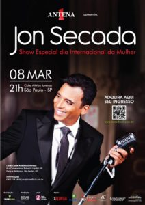 Jon Secada - Show Especial Dia Internacional da Mulher @ Palácio Grená | São Paulo | Brasil