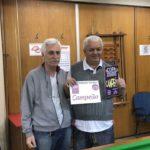 Rodolfo Stein, diretor de Snooker, com o campeão Jota