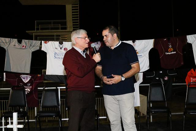 Presidente Domingos Sanches e o jornalista Fredy Junior