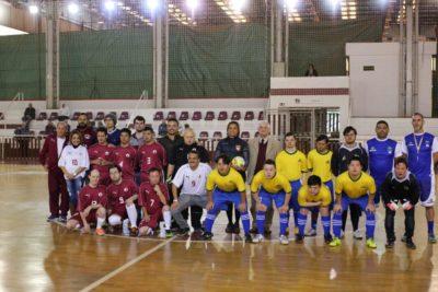 Presidente Domingos Sanches acompanhou o jogo. Foto: Marcelo Germano
