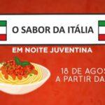 Cardápio Festa Italiana Agosto 2018