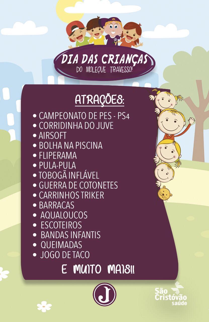 Atrações Dia das Crianças - arte 2018