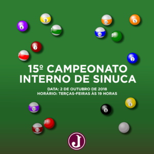 Sinuca - Campeonato - arte 2018