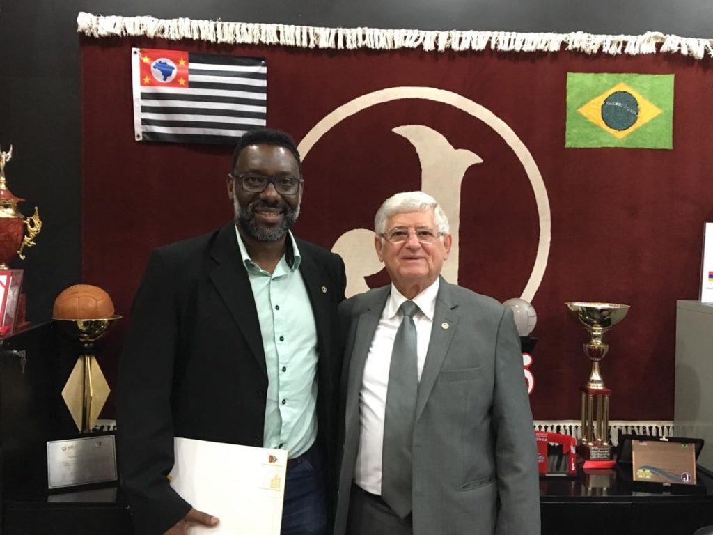 Diretor de Futebol, Vitor Faustino  e Presidente Domingos Sanches