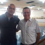 José Carlos (esquerda), presidente da FPK, e Ivan Douglas, diretor de karatê