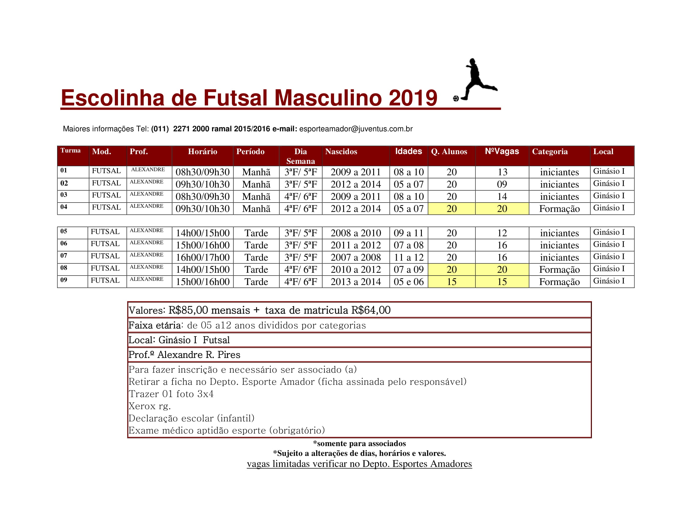 Escola Futsal - Esporte Amador 2019