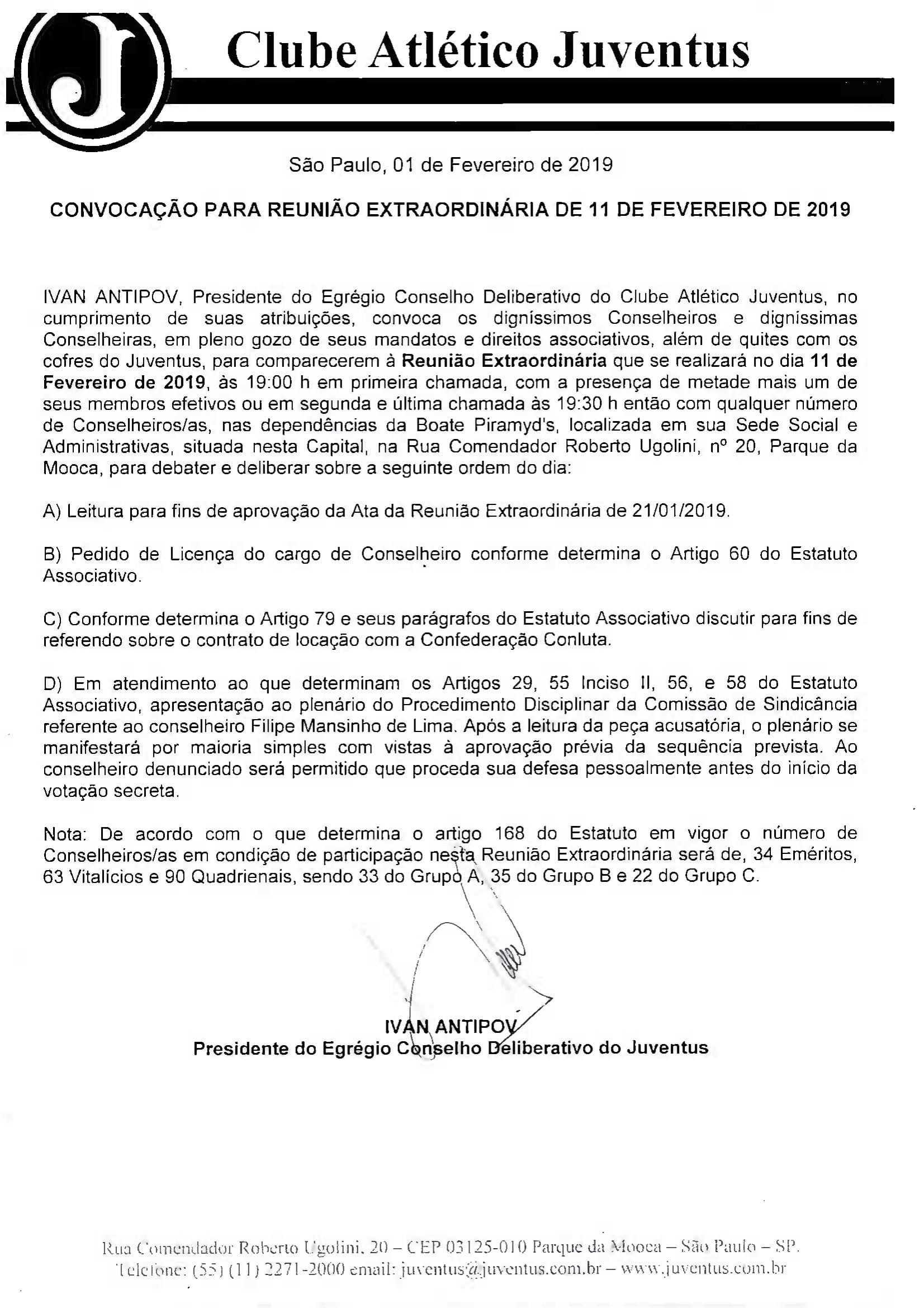 EDITAL DE CONVOCAÇÃO 11-02-2019