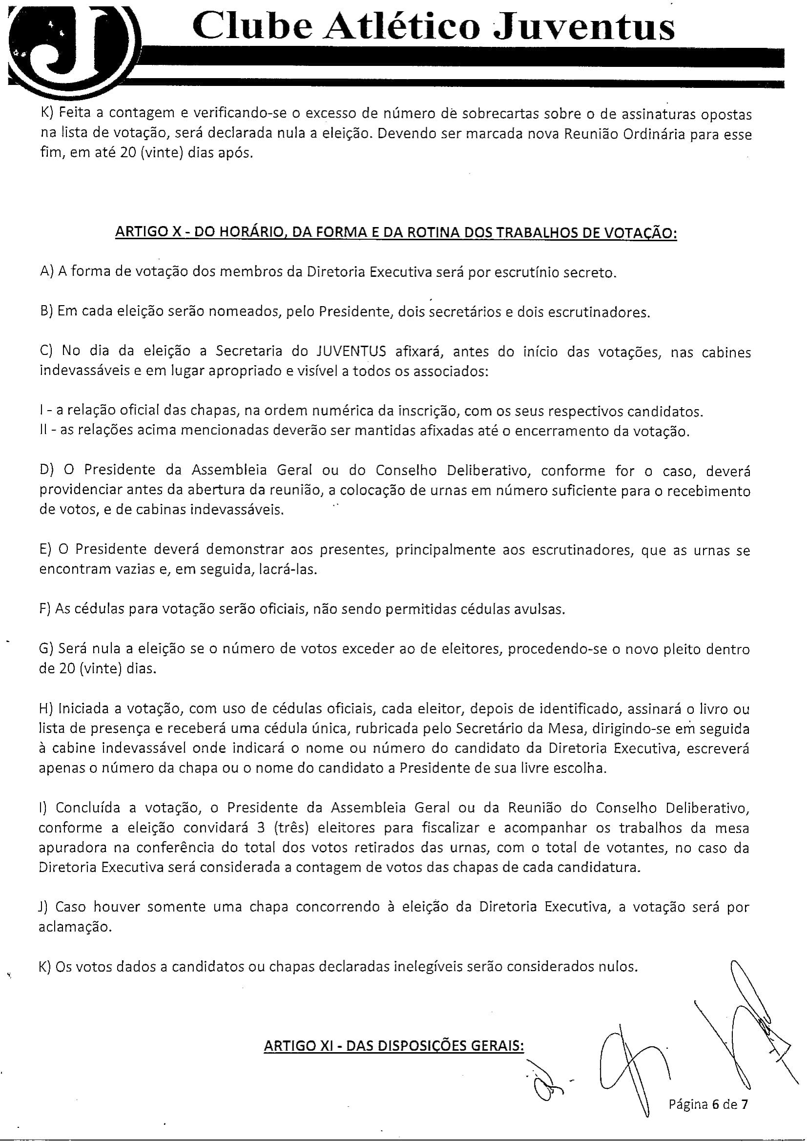 NORMAS DISCIPLINADORAS ELEIÇÃO 2019072-6