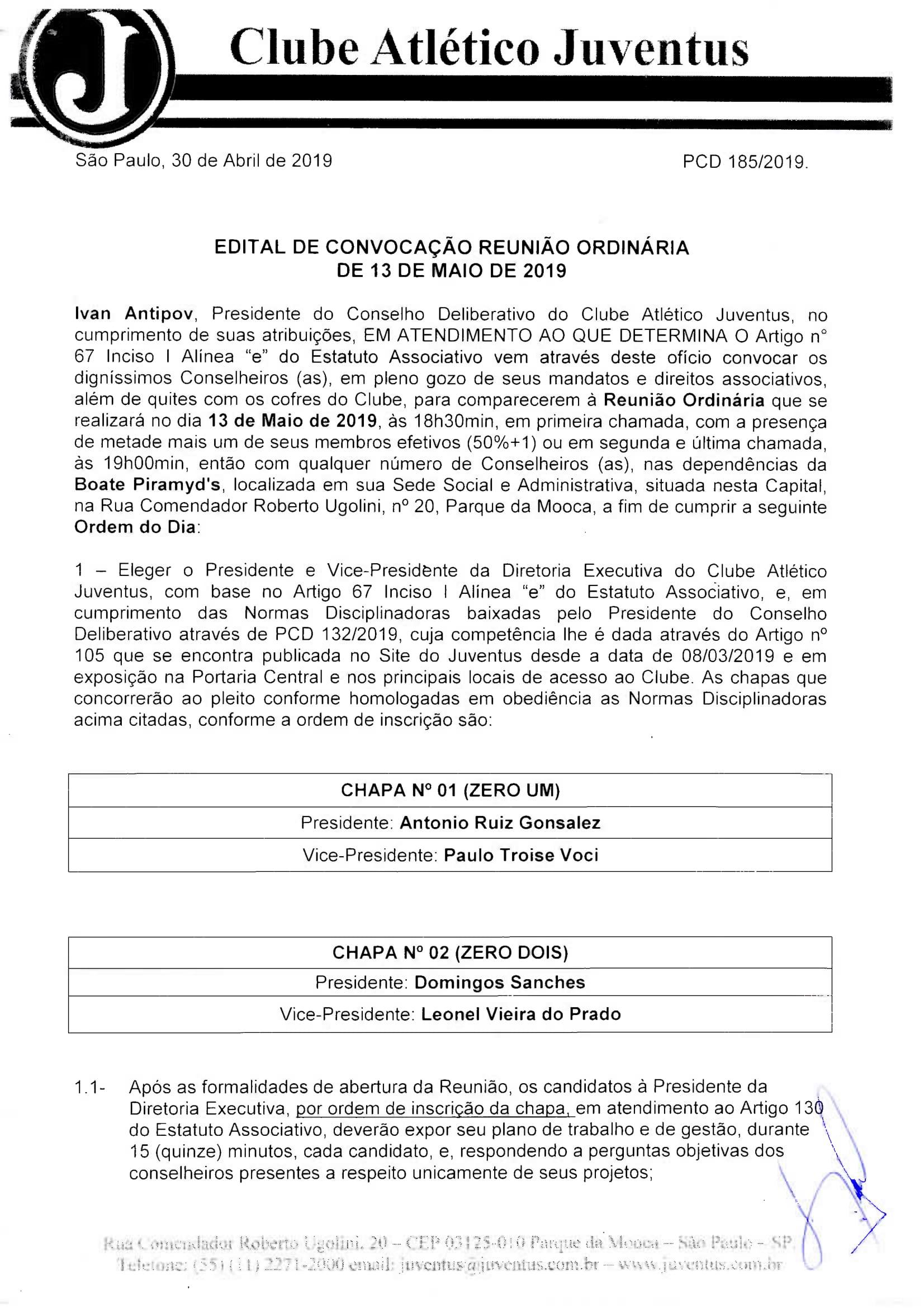 EDITAL DE CONVOCAÇÃO - REUNIÃO ORDINÁRIA 13-05-19084-1