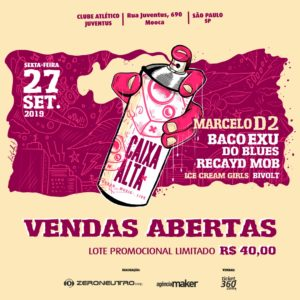 Caixa Alta - Este evento não é organizado pelo Clube Atlético Juventus @ Salão Nobre