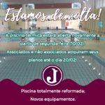 Piscina Térmica será reaberta com Novos Equipamentos