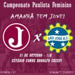 Juventus enfrenta  São José E.C pela 2ª rodada do Paulista Feminino