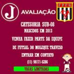 Avaliação Futsal – Categoria Sub 08